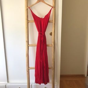 Joie red maxi dress